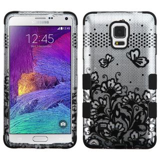 Insten Pattern Design Tuff Hard PC/ Silicone Dual Layer Hybrid Rubberized Matte Phone Case Cover For Samsung Galaxy Note 4