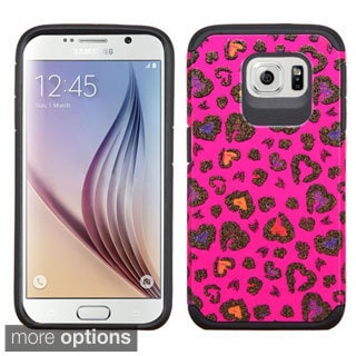 Insten Pattern Design Glittering Hard PC/ Silicone Dual Layer Hybrid Rubberized Matte Phone Case Cover For Samsung Galaxy S6