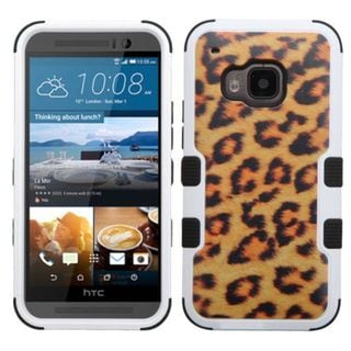 Insten Brown/ Black Leopard Tuff Hard PC/ Silicone Dual Layer Hybrid Rubberized Matte Phone Case Cover For HTC One M9