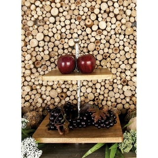 Fabulous Wood/ Metal 2-tier Tray