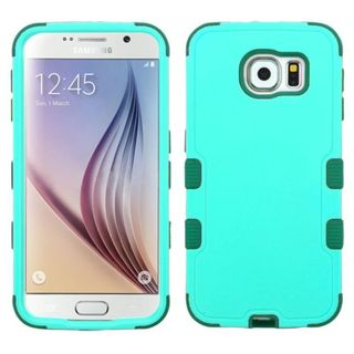 Insten Teal Tuff Hard PC/ Silicone Dual Layer Hybrid Rubberized Matte Phone Case Cover For Samsung Galaxy S6