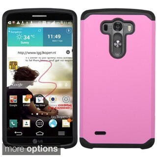 Insten Hard PC/ Silicone Dual Layer Hybrid Rubberized Matte Phone Case Cover For LG G3