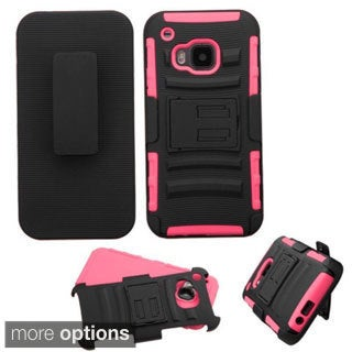 Insten Hard PC/ Silicone Dual Layer Hybrid Phone Case Cover with Holster For HTC One M9