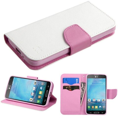 Insten Diamond Leather Wallet Flap Pouch Phone Case Cover with Stand For LG Optimus L90