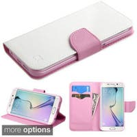 Insten Leather Wallet Flap Pouch Phone Case Cover with Stand For Samsung Galaxy S6 Edge