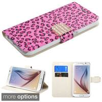 Insten Diamond Wallet Flap Pouch Leather Phone Case Cover with Stand For Samsung Galaxy S6