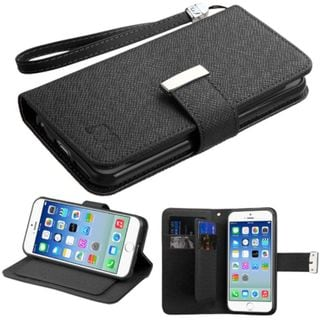 Insten Leather Wallet Flap Pouch Phone Case Cover Lanyard with Stand For Apple iPhone 6