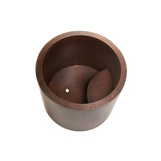 Premier Copper Products 45-inch Japanese Style Soaking Hand Hammered Copper Bathtub