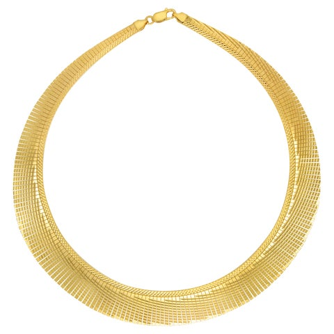 18k Gold Overlay 17-inch Cleopatra Collar