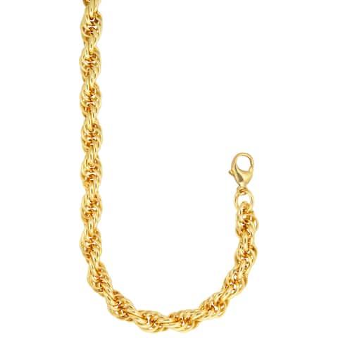 Bronzoro 18 k Gold Overlay Large 24-inch Rope Chain