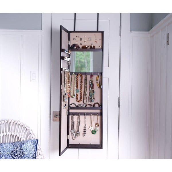 hives u0026 honey paige overthedoor jewelry mirror armoire