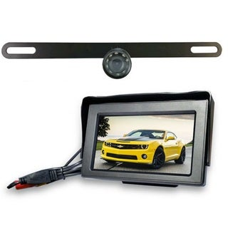 Top Dawg Wireless License Plate Backup Wide Angle HD Camera with 4.3-inch Touch Display
