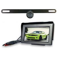 Top Dawg Wired License Plate Backup Wide Angle HD Camera with 4.3-inch Display