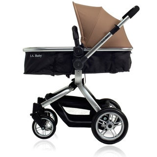 L.A. Baby Brown/ Black Red Oak Street Stroller