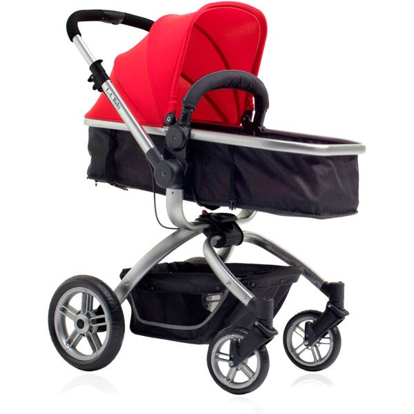 Shop L A Baby Red Black Red Oak Street Stroller Free