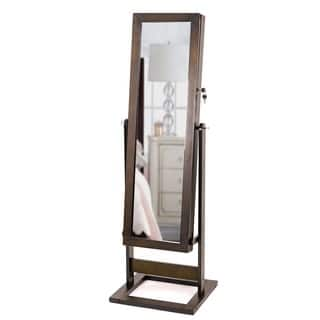 Hives & Honey Trinity Cheval Espresso Standing Mirror Jewelry Armoire|https://ak1.ostkcdn.com/images/products/10138625/P17275840.jpg?impolicy=medium