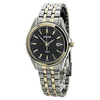 Seiko SGEG90 Men's Quartz Two-tone Stainless Steel Bracelet Grey Dial Watch
