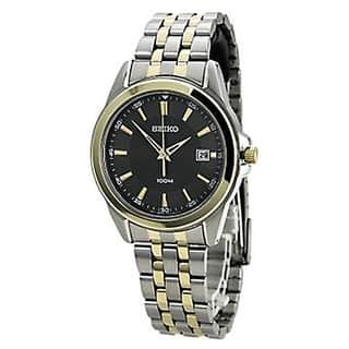 Seiko SGEG90 Men's Quartz Two-tone Stainless Steel Bracelet Grey Dial Watch|https://ak1.ostkcdn.com/images/products/10138652/P17275862.jpg?impolicy=medium