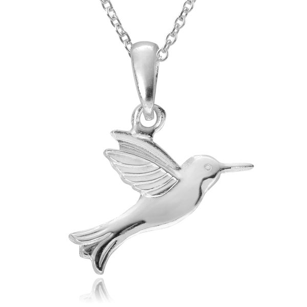 hummingbird inch pendant com dp sterling amazon nature silver beautiful chain necklace snake