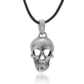 Vance Co. Men's Sterling Silver Skull Pendant