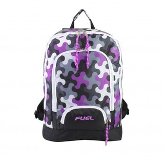 Fuel Puzzle Print Triple Pocket Laptop Backpack