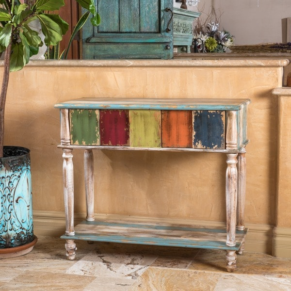 everest 2drawer wood console table by christopher knight home free shipping today