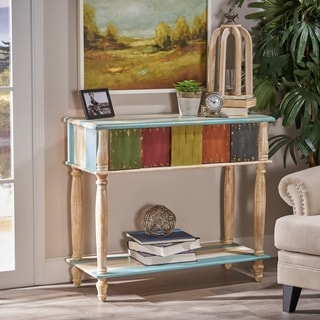 Everest 2 Drawer Multi Colored Wood Console Table By Christopher Knight Home