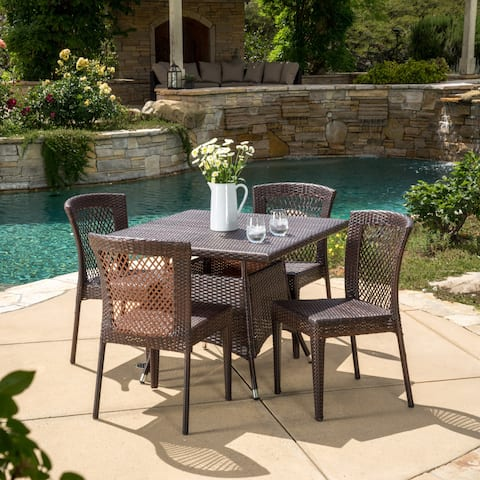 Watkins Outdoor 5-piece Wicker Dining Set by Christopher Knight Home