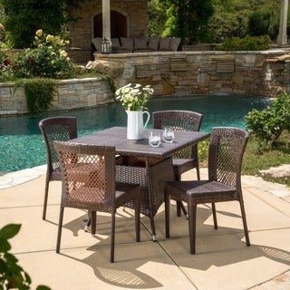 Christopher Knight Home Watkins Outdoor 5-piece Wicker Dining Set
