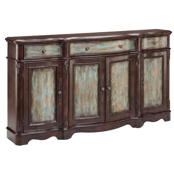 Shop Laurie Distressed Veneer Sideboard Cabinet - On Sale ...