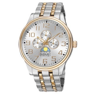 August Steiner Men's Quartz Multifunction Alloy Two-Tone Bracelet Watch