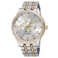 August Steiner Men's Quartz Multifunction Alloy Two-Tone Bracelet Watch