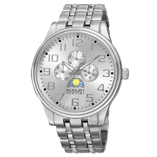 August Steiner Men's Quartz Multi-function Alloy Silver-Tone Bracelet Watch
