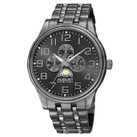 August Steiner Men's Quartz Multi-function Alloy Black Bracelet Watch