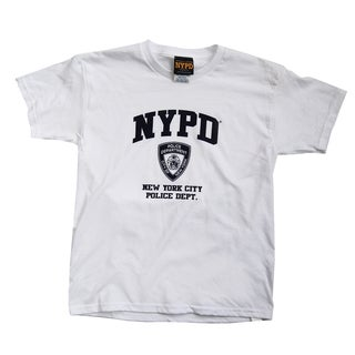 NYPD Kid's Navy Print White Tee