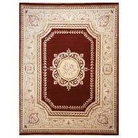 Hand-Knotted Burgundy Orleans Rug (3' x 5')