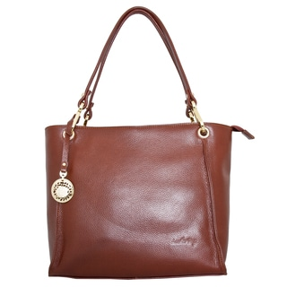 Leatherbay Brown Rimini Small Tote Bag