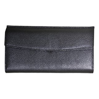 Leatherbay Sleek Flap-over Wallet|https://ak1.ostkcdn.com/images/products/10138946/P17276091.jpg?impolicy=medium