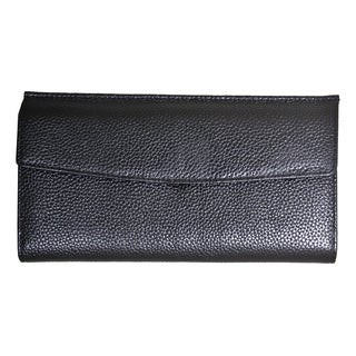 Leatherbay Sleek Flap-over Wallet