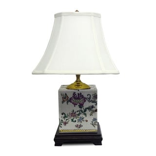 Blooms Porcelain Box Table Lamp