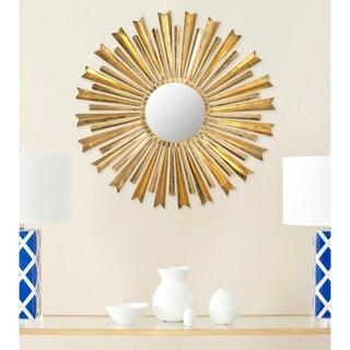 """Safavieh Golden Arrows Antique Gold Sunburst 33-inch Decorative Mirror - 33"""" x 1"""" x 33"""""""
