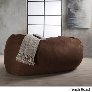 Asher Faux Suede 6.5-foot Lounge Beanbag Chair by Christopher Knight Home (5 options available)