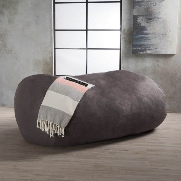 Lounger Bean Bag Chair asher faux suede 6.5-foot lounge beanbag chairchristopher