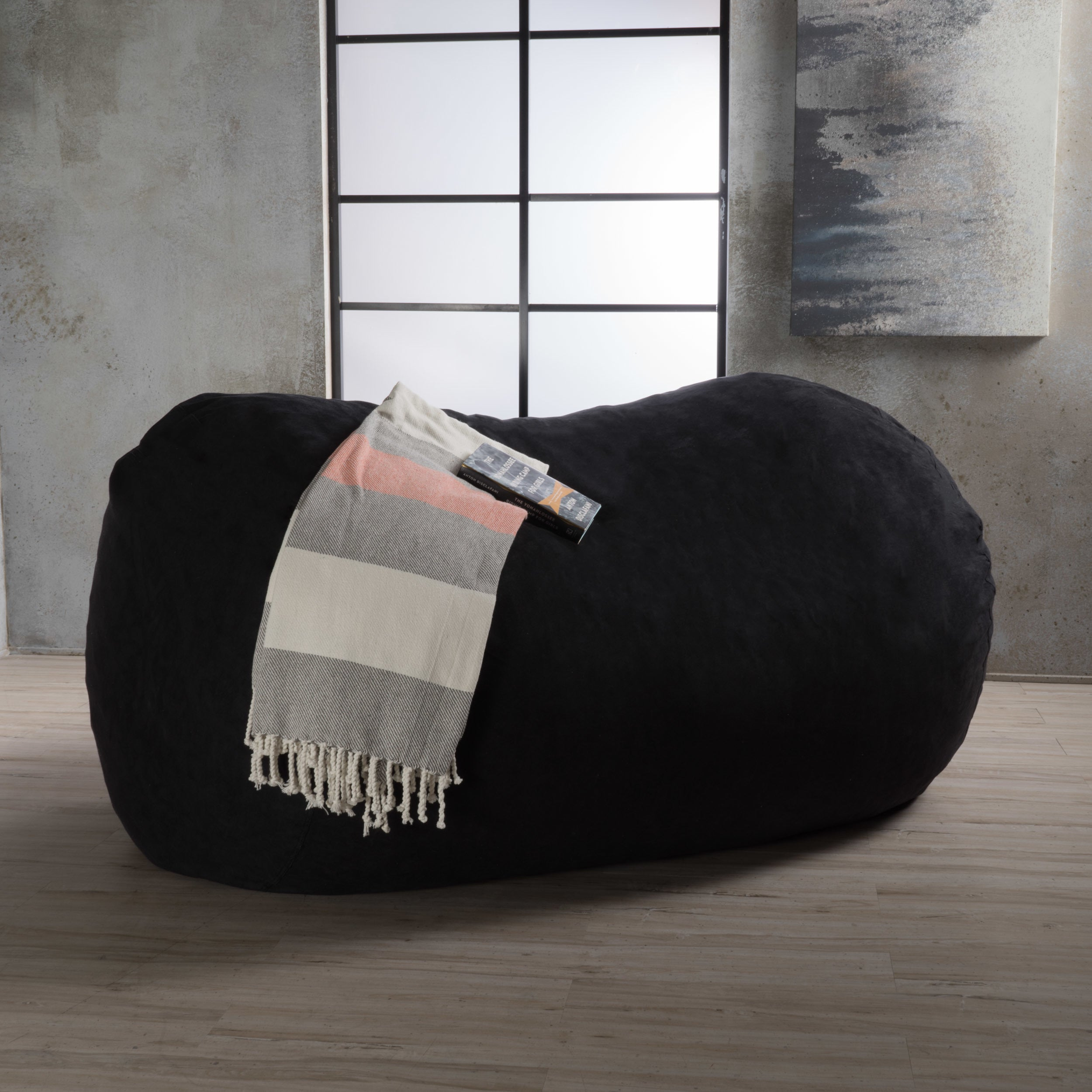 Strange Details About Asher Faux Suede 6 5 Foot Lounge Beanbag Chair By Christopher Knight Home Gmtry Best Dining Table And Chair Ideas Images Gmtryco