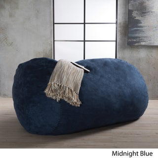 Asher Faux Suede 6.5-foot Lounge Beanbag Chair by Christopher Knight Home (Option: Blue)