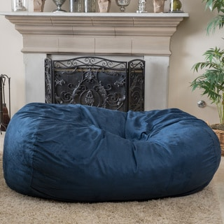 Christopher Knight Home Asher Faux Suede 6.5-foot Lounge Beanbag Chair