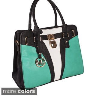 Michael Michelle 'Yasmin' Color Block Satchel Bag
