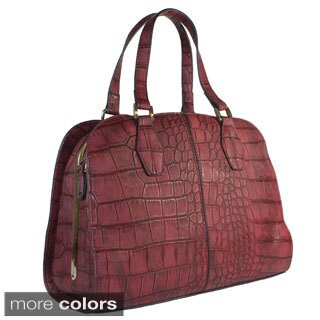 "Lithyc ""Olivia"" Large Croc Satchel"