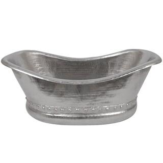 premier copper products bath tub vessel hammered copper sink in electroless nickel free. Black Bedroom Furniture Sets. Home Design Ideas