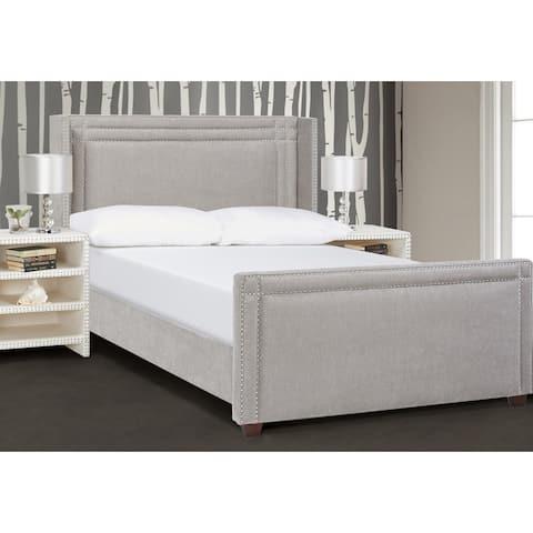 Jennifer Taylor Elle Wingback Upholstered Bed